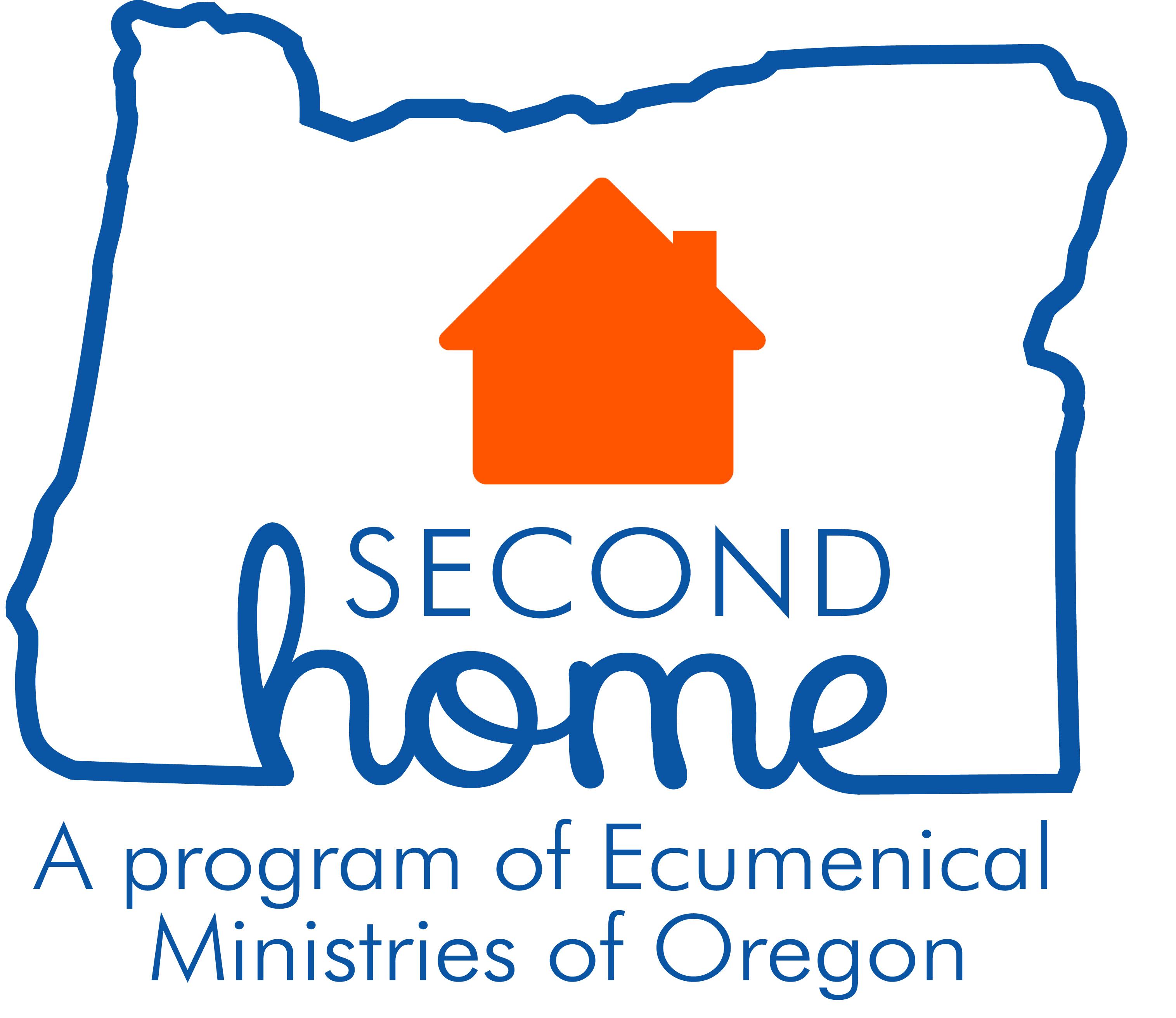 Second Home logo blue orange 2018