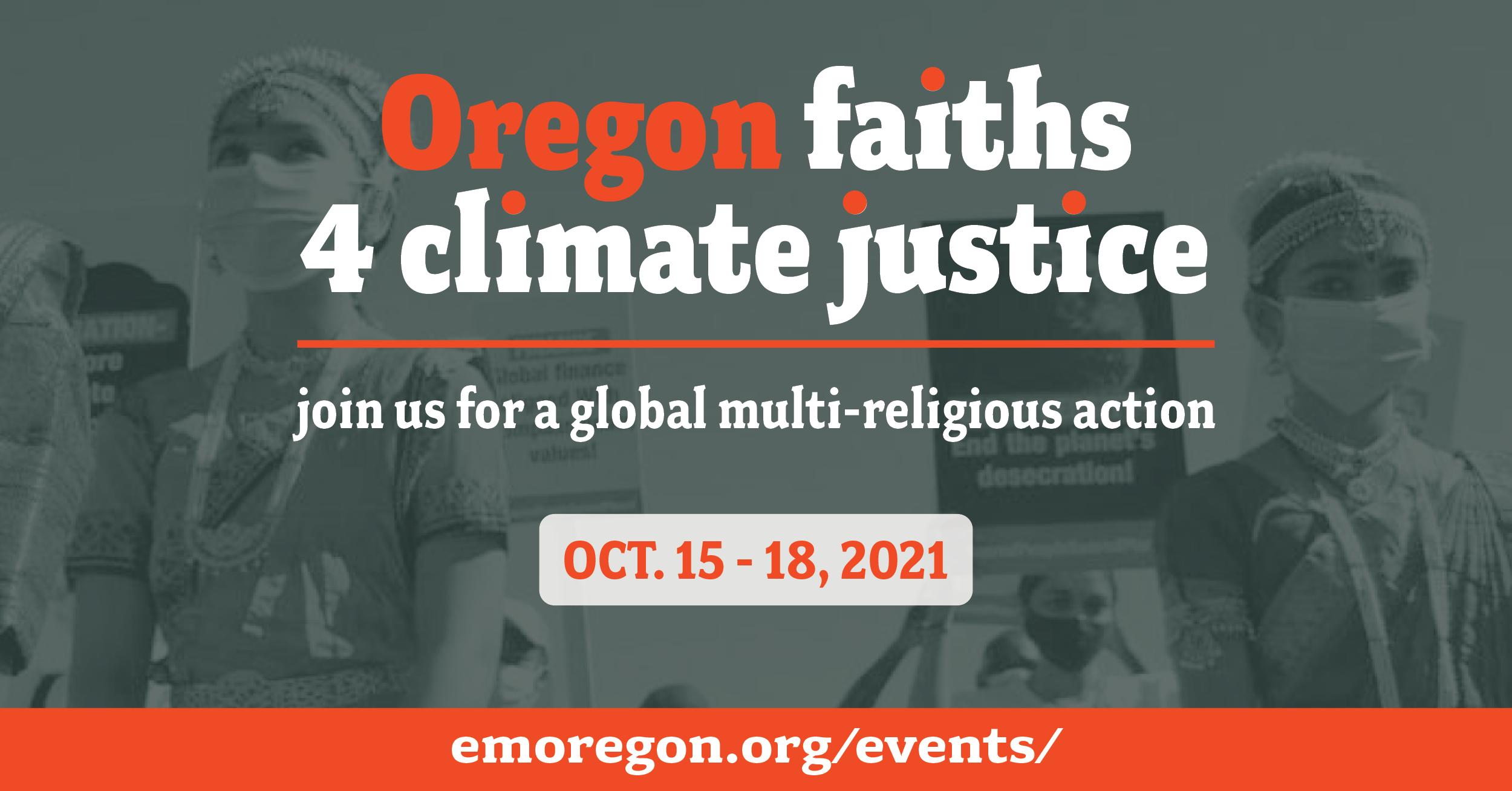 Oregon faiths 4 climate justice